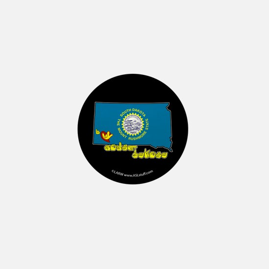 ILY South Dakota Mini Button