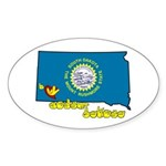 ILY South Dakota Sticker (Oval 10 pk)