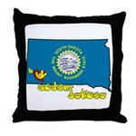 ILY South Dakota Throw Pillow