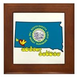 ILY South Dakota Framed Tile