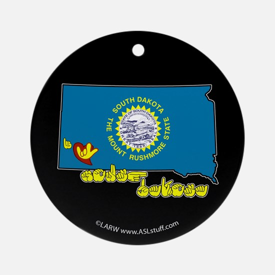 ILY South Dakota Ornament (Round)