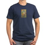 Maya Book of the Dead Men's Fitted T-Shirt (dark)