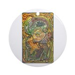 Maya Book of the Dead Ornament (Round)