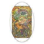 Maya Book of the Dead Sticker (Oval)