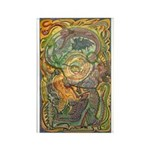 Maya Book of the Dead Rectangle Magnet (10 pack)