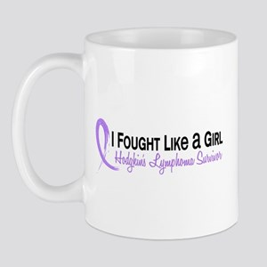Fought Like A Girl Hodgkin's Lymphoma Mug