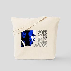 Obama - Hope Over Fear - Blue Tote Bag