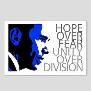 Obama - Hope Over Fear - Blue Postcards (Package o