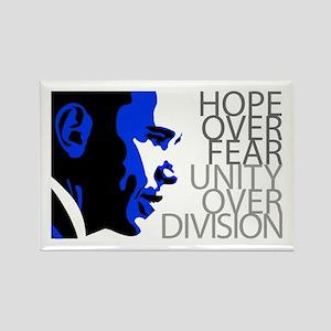 Obama - Hope Over Fear - Blue Rectangle Magnet