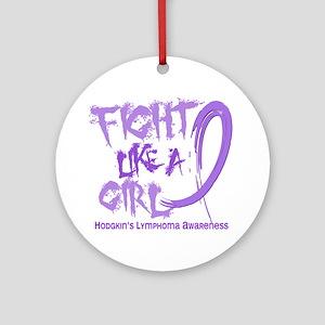 Fight Like A Girl Hodgkin's Lymphoma Ornament (Rou