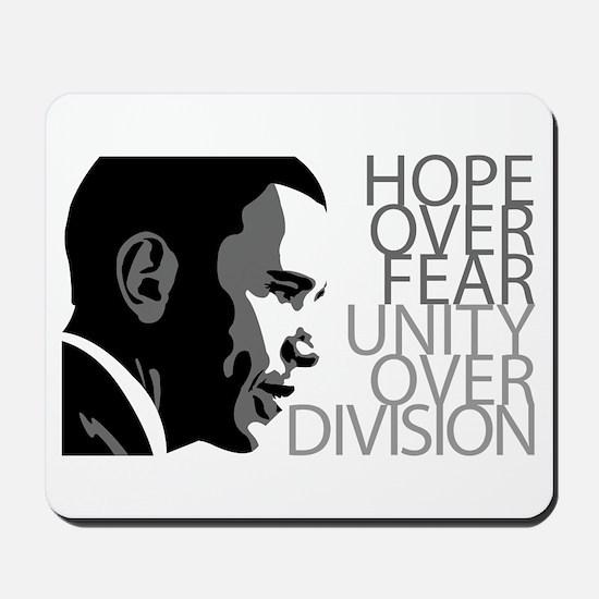 Obama - Hope Over Fear - Grey Mousepad