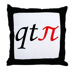 qt pi Throw Pillow