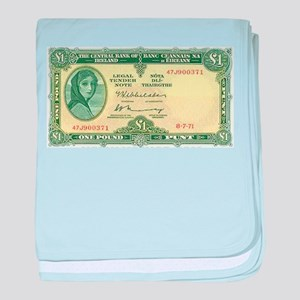 Irish Money baby blanket