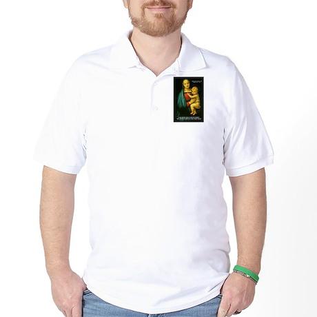 Raphael Madonna Painting Golf Shirt