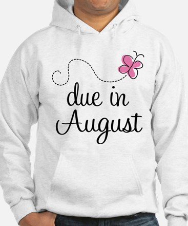 August Due Date Butterfly Hoodie