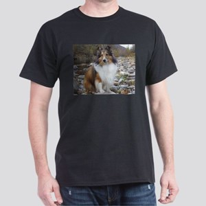 Sable Sheltie Hiker Dark T-Shirt