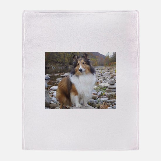 Sable Sheltie Hiker Throw Blanket
