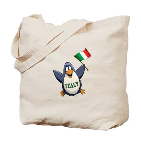 Italy Penguin Tote Bag