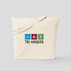 Tri Harder (Thiathlon) Tote Bag