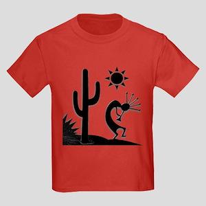 Silhouette Kokopelli Kids Dark T-Shirt