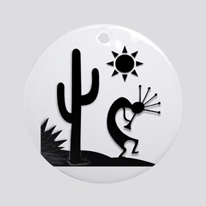 Silhouette Kokopelli Ornament (Round)