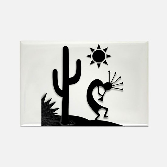 Silhouette Kokopelli Rectangle Magnet