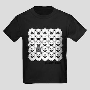 Bouvier and Sheep Kids Dark T-Shirt