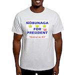 Ash Grey Nobunaga for President T-Shirt