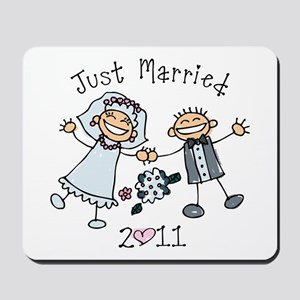 Stick Just Married 2011 Mousepad