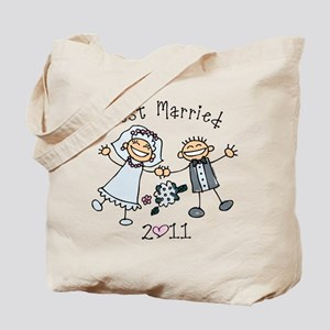 Stick Just Married 2011 Tote Bag
