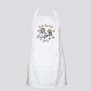 Stick Just Married 2011 Apron