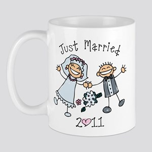 Stick Just Married 2011 Mug