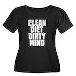 Clean Diet..... Women's Plus Size Scoop Neck Dark