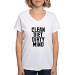 Clean Diet..... Women's V-Neck T-Shirt
