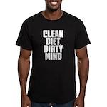 Clean Diet..... Men's Fitted T-Shirt (dark)