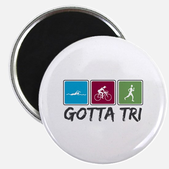Gotta Tri (Triathlon) Magnet