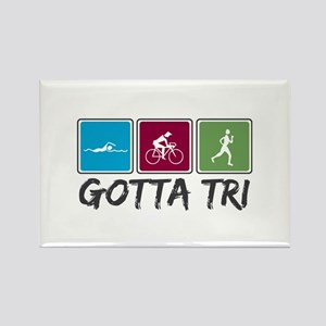 Gotta Tri (Triathlon) Rectangle Magnet