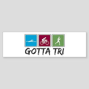 Gotta Tri (Triathlon) Sticker (Bumper)
