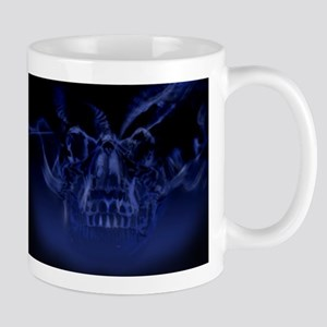Blue Skull Smoke Mug
