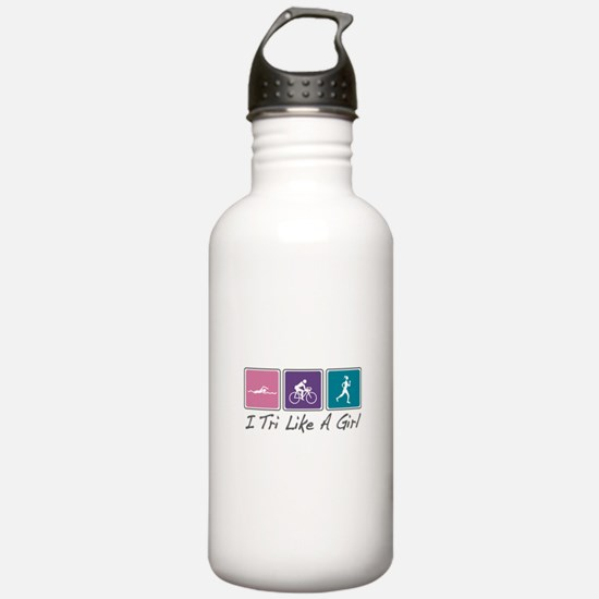 Tri Like A Girl (Triathlete) Water Bottle