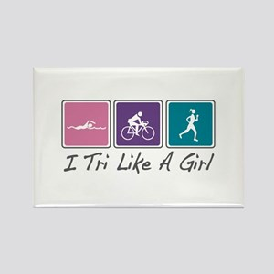 Tri Like A Girl (Triathlete) Rectangle Magnet