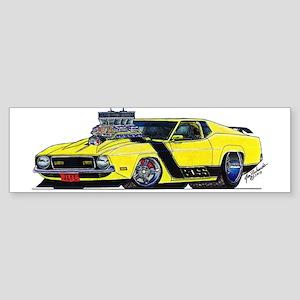 1971 Ford BOSS Mustang Sticker (Bumper)