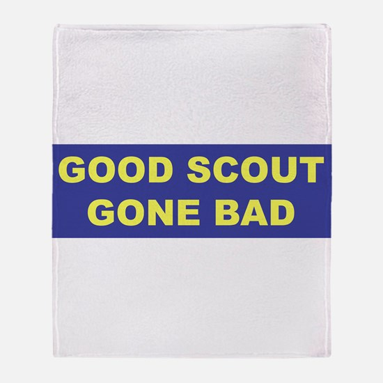Good Scout Gone Bad (Blue) Throw Blanket