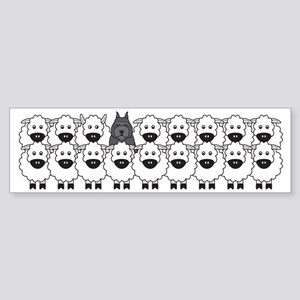 Bouvier and Sheep Sticker (Bumper)