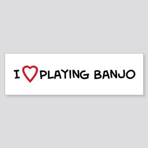 Play Banjo Bumper Sticker