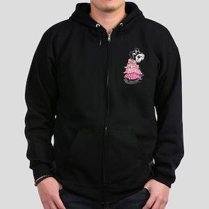 Girly Schnauzer Zip Hoodie (dark)