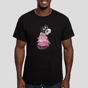 Girly Schnauzer Men's Fitted T-Shirt (dark)