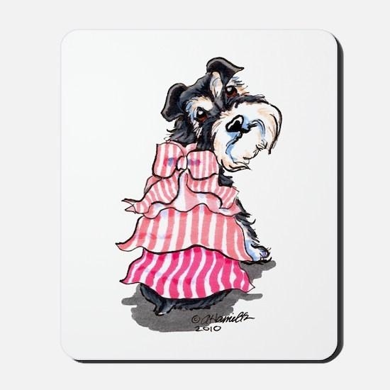 Girly Schnauzer Mousepad