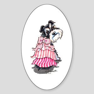 Girly Schnauzer Sticker (Oval)