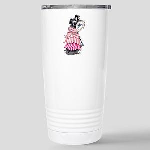 Girly Schnauzer Stainless Steel Travel Mug